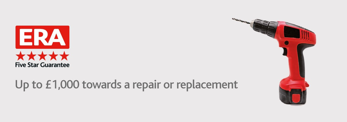 Up to £1,000 towards a repair or replacement