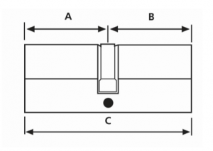 Cylinder Lock Measurement Diagram