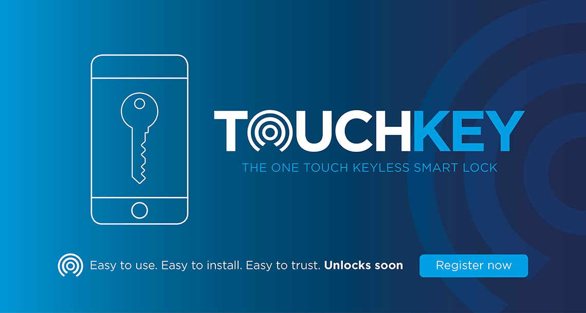 Register your interest in Touchkey